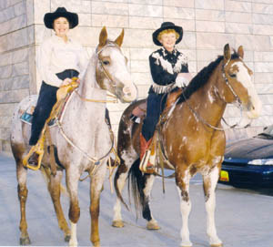 Sally Queal and her Horses.